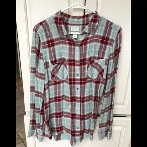 Caslon from Nordstroms blue/maroon button up s M